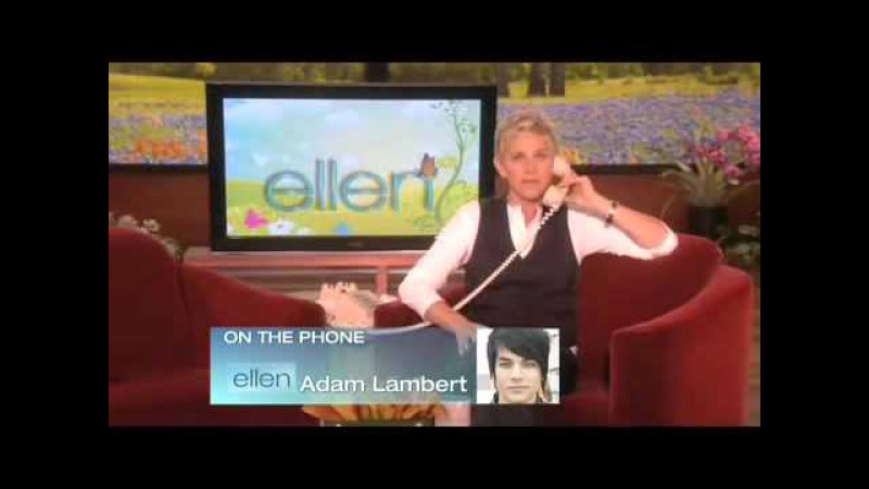 Ellen Calls American Idol's Adam Lambert On The Ellen DeGeneres Show6