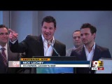 Nick Lachey and Drew Lachey ribbon-cutting at new Over-the-Rhine bar
