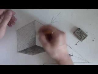 Как нарисовать куб / How to draw cube