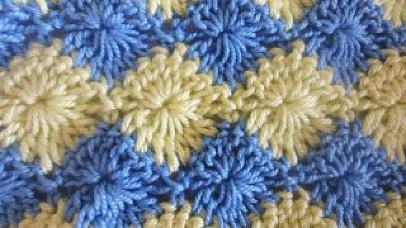 Двухцветный узор Two color pattern Crochet