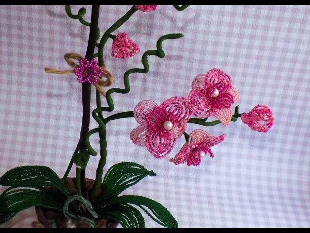 Орхидея из бисера. Мастер-класс. Часть 1/2. Нow to make orchid flower