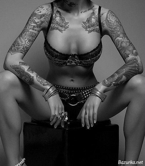 Проно татуированных девушек 27 фотография