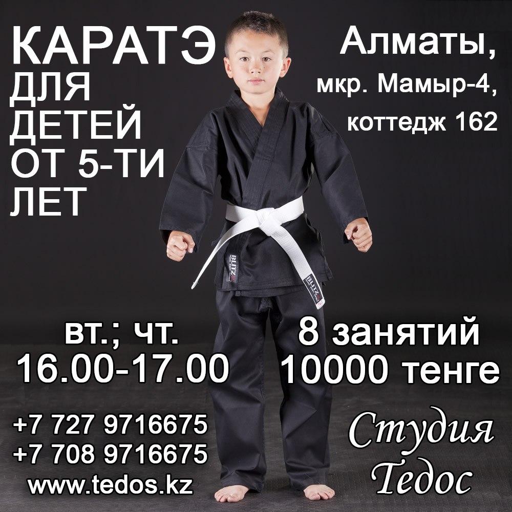 Секция каратэ для детей в Алматы