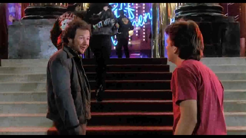 Удаленные сцены из фильма Назад в будущее 2 7 Марти встречает брата Дэйва в изменнённом 1985