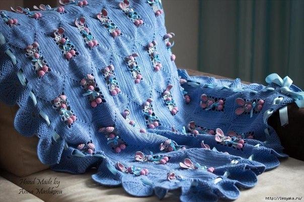 Delicadezas en crochet Gabriela: Manta para el bebé, motivo conejito