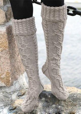 правилам вязания носков.