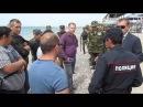 Освобождение пляжей в Евпатории Хозяева жизни прыгают