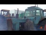 Охреневший пуск двух старых тракторов Беларусь-МТЗ-80.Crazy start two old tractors Belarus MTZ-80