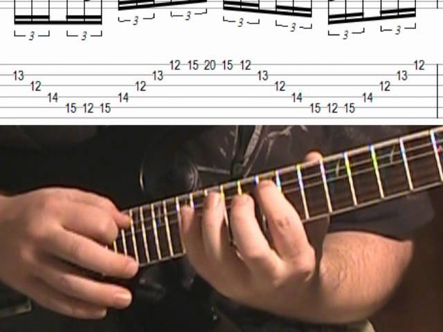 Melodic Sweep Picking Tapping Lick (Lesson With TAB)