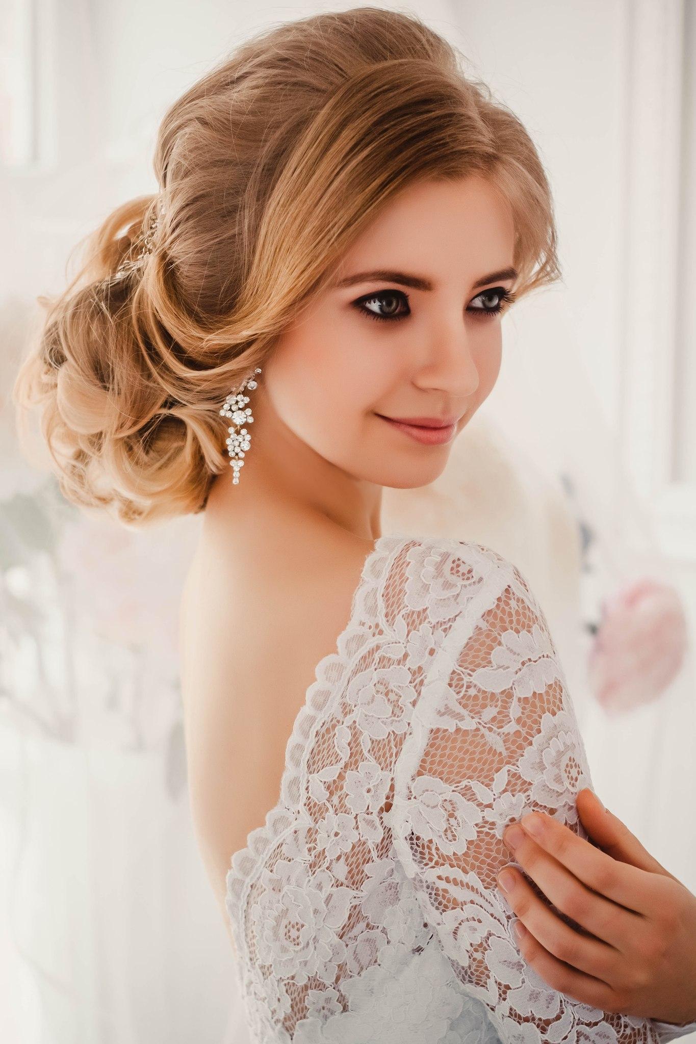 Красивые свадебные прически для каждого типа волос. 151 лучшее фото 67