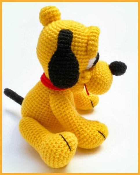 Собачка Плуто амигуруми. Схема