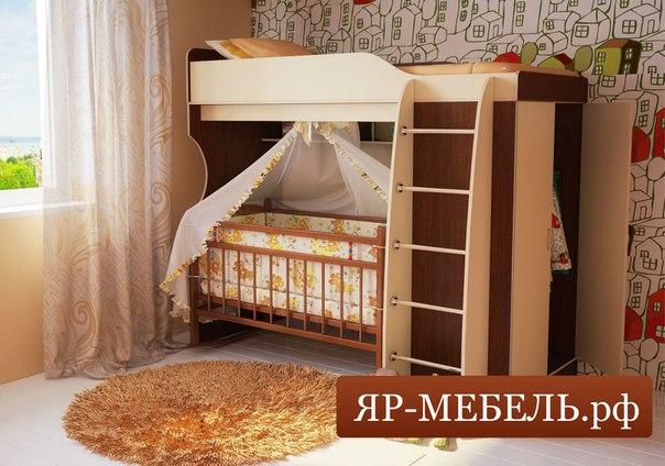 Кровать чердак кроватка для новорожденного