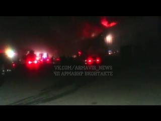 На Промзоне горит завод РОСАТ (Армавир, 30.10.15) часть 2