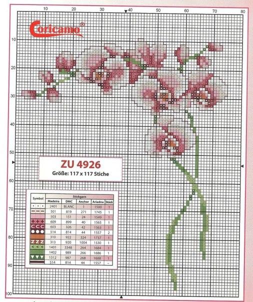 Вышиваем орхидеи #вышивка