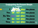 Forming the Present Simple tense in English
