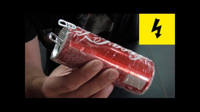 бесплатное электричество! электрическая банка шокер ! the shock of cans of Cola