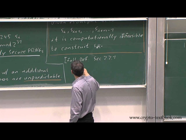 Lecture 3 Stream Ciphers, Random Numbers and the One Time Pad by Christof Paar