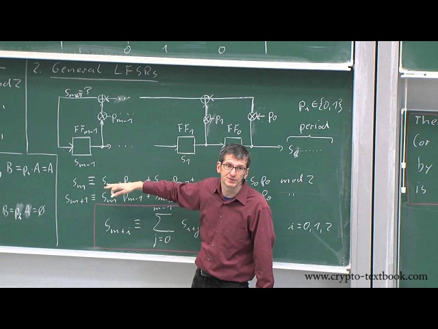 Lecture 4 Stream Ciphers and Linear Feedback Shift Registers by Christof Paar