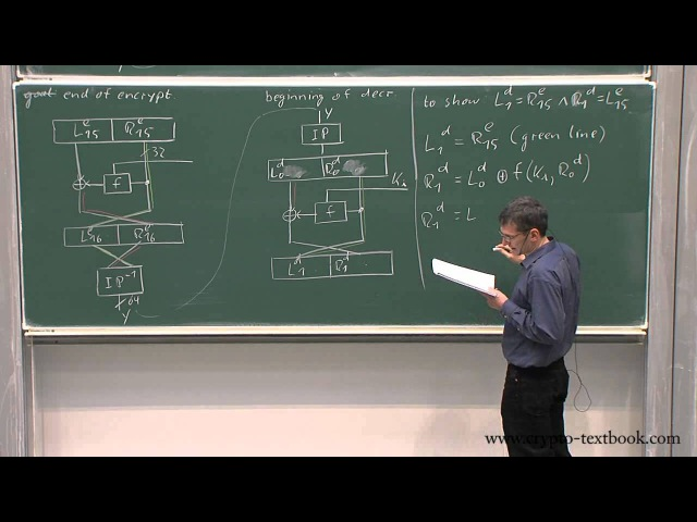 Lecture 6 Data Encryption Standard (DES) Key Schedule and Decryption by Christof Paar