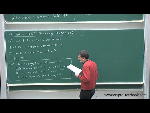 Lecture 9 Modes of Operation for Block Ciphers by Christof Paar