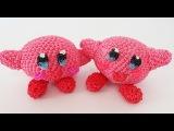 Kirby Mario Bros Rainbow Loom Bands Amigurumi Loomigurumi Hook Only Tutorial
