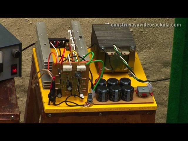 Amplificador de 300W ampliable en potencia hasta 1500W