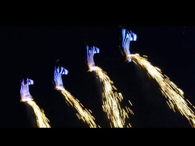 Wingsuit LED Light Show in the Sky - Gravitas: Camo Krooked