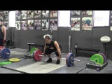 John Downey (85kg) Working Up to a Heavy Triple Clean