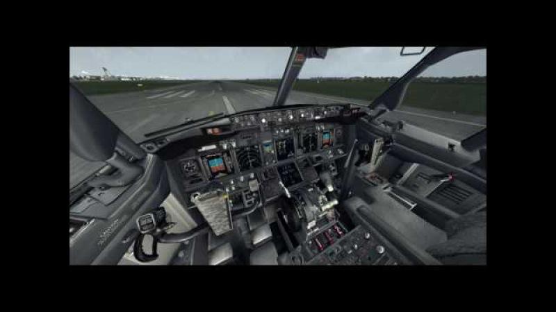 PMDG737NGX LOWW Vienna Schwechat takeoff