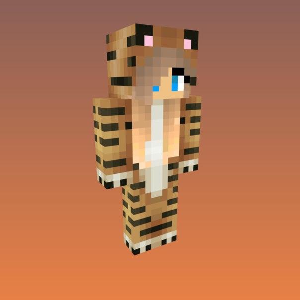 Скачать скин Тигра для Minecraft
