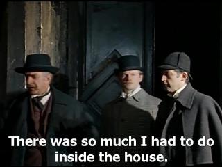 Приключения Шерлока Холмса и доктора Ватсона с английскими субтитрами. Кровавая надпись.