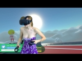 Девушка Случайно Показала Сиськи , играя в HTC Vive