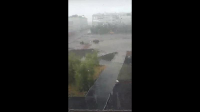 ХэлоуВоркута   Дождь в Воркуте 1 августа 2016 года