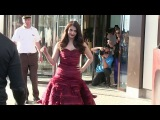 EXCLUSIVE: Aishwarya Rai coming out of the Martinez Hotel in Cannes