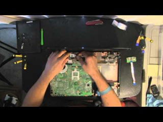 TOSHIBA L655D, L655 laptop take apart video, disassemble, how to open disassembly