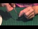 Цветы из кожи Как делать завивку лепестков