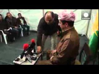 Курды езиды спускаются с гор Шангала