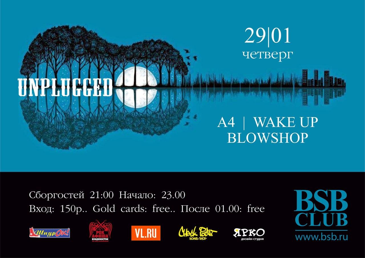 Афиша Владивосток Unplugged In BSB club 29/01