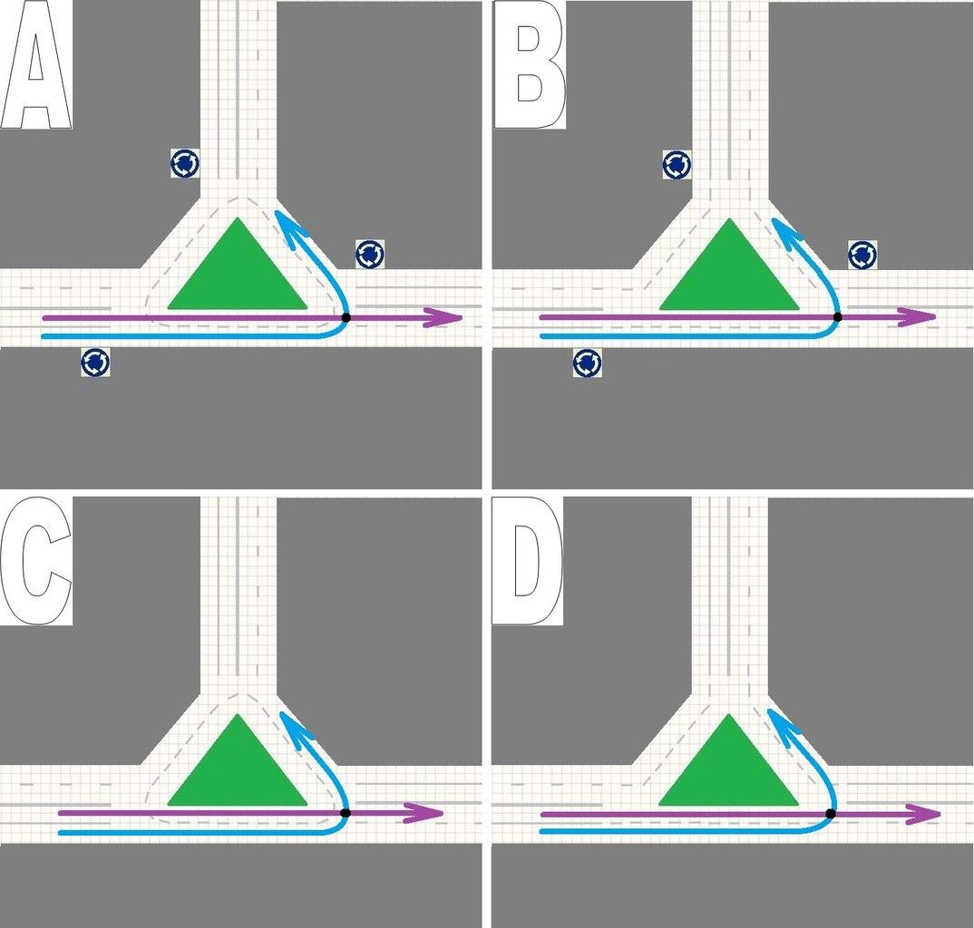 Как проезжать перекрестки схемы
