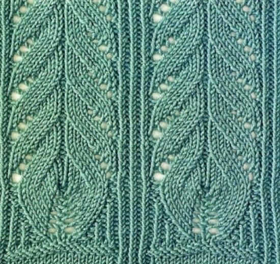 Узоры для вязания спицами (6 фото) - картинка