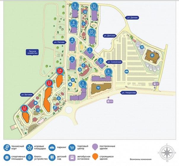 Схема квартала, Велтон парк