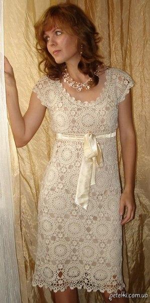 Шикарное платье круглыми