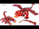 LEGO Creator Red Creatures - All 3 builds! set 31032