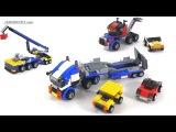 LEGO Creator Vehicle Transporter - all 3 builds! set 31033
