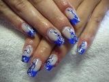 Дизайн ногтей гель лаком. Простые рисунки на ногтях.Nail designs. French manicure