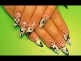 Nail designs. French manicure. Дизайн ногтей гель лаком ко дню влюбленных. Рисунки на ногтях.