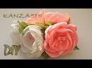 🌺 Цветы на Торжество Своими Руками / Канзаши Мастер Класс / Kanzashi Master Class / DIY