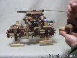 木の四足歩行ロボット2010 Wooden 4-legged robot
