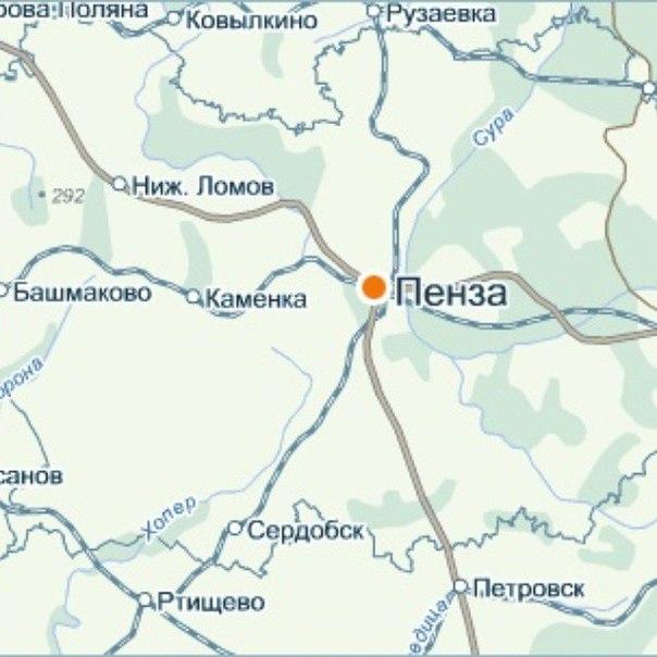 Карта Города Пенза