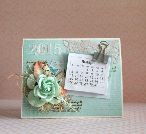 Настольный календарь на новый год
